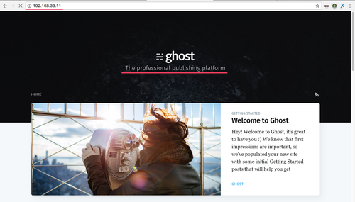 Ghost blog is working