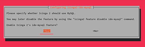 Icinga MySQL installation
