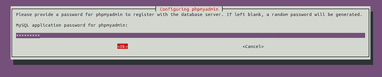 MySQL application password