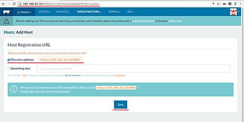 Enter host URL