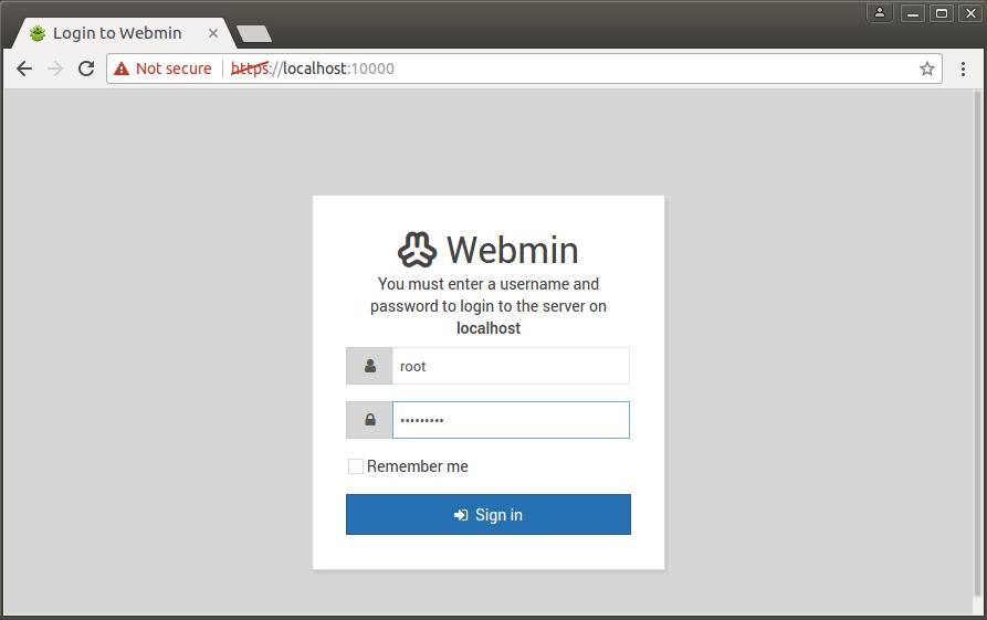 Install Latest Webmin 1