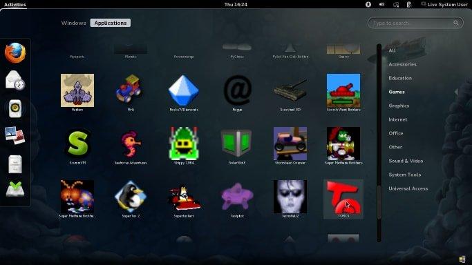 Disro Gaming Linux - Fedora Games Spin