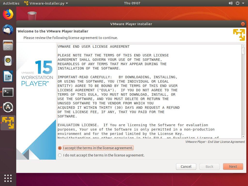 Install VMware Workstation Player di Ubuntu 1