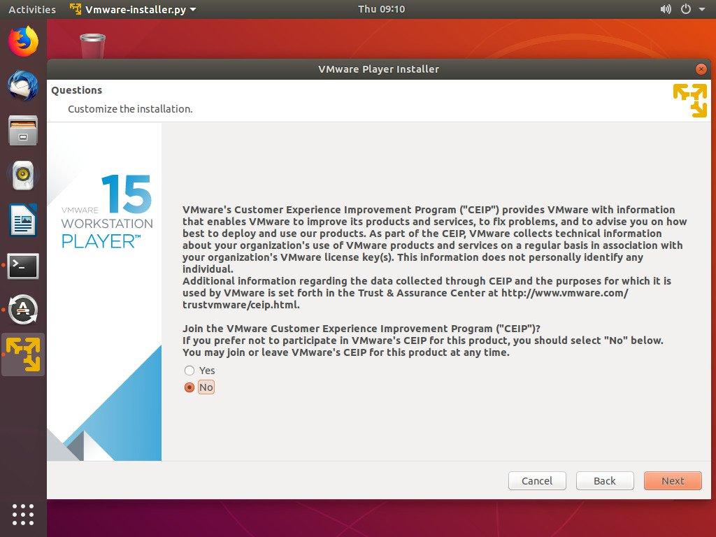 Install VMware Workstation Player di Ubuntu 3