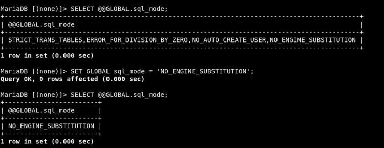 Check MySQL mode