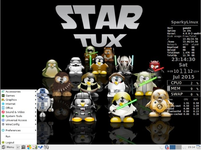 Disro Gaming Linux - SparkyLinux - GameOver Edition