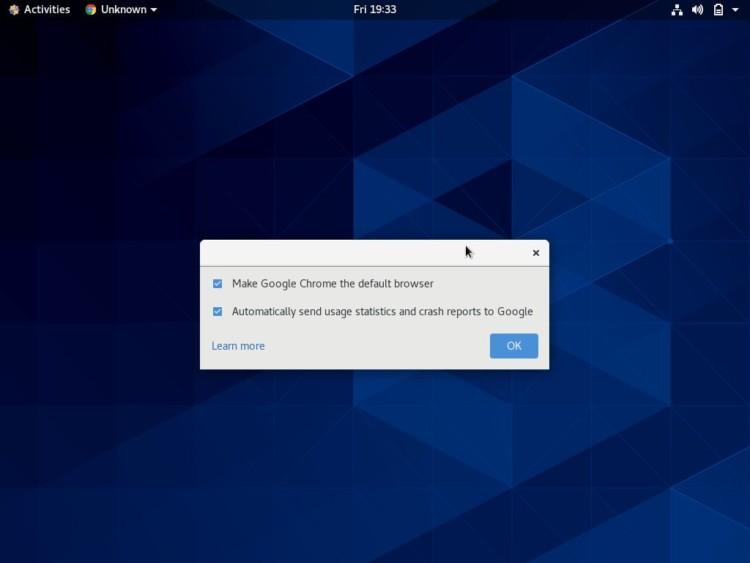 centos google chrome default-browser