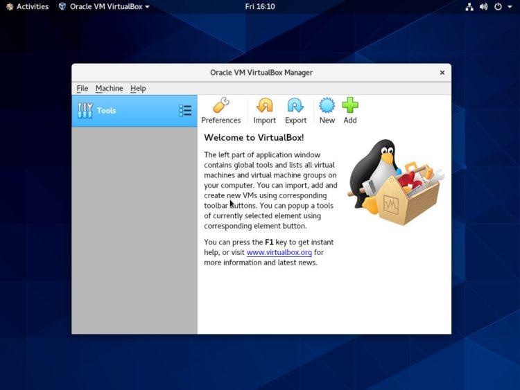 centos 8 virtualbox