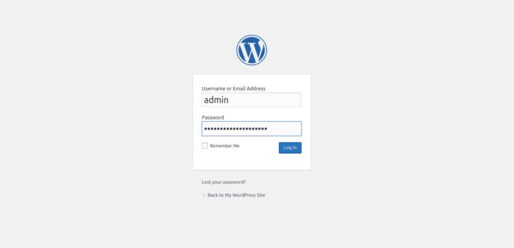 Page 3 - WordPress Login