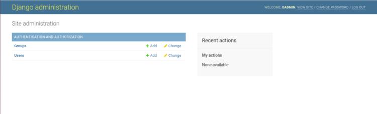 halaman web Admin Django