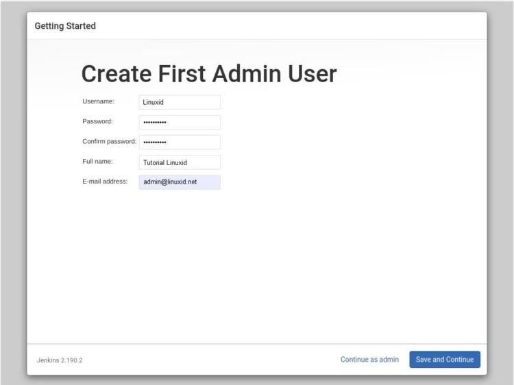 jenkins create admin user