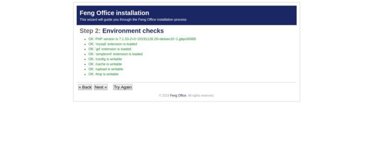 Page 2 - Environment check
