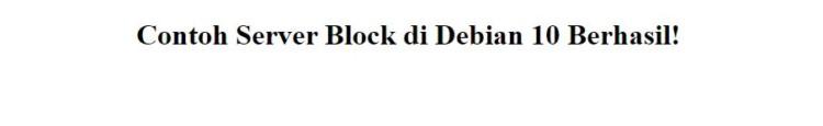 Contoh Server Block di Debian 10