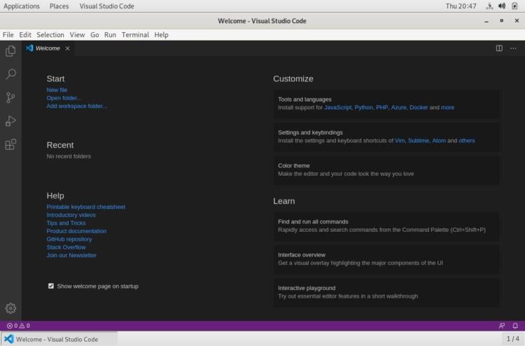 debian Visual studio code