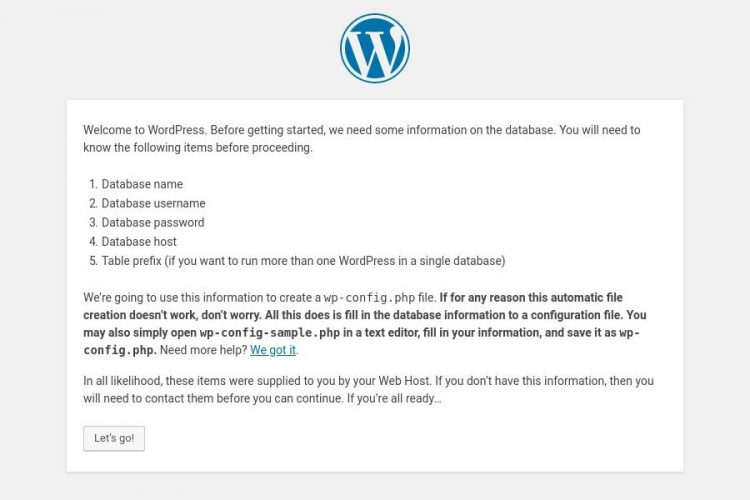 install wordpress CentOS information
