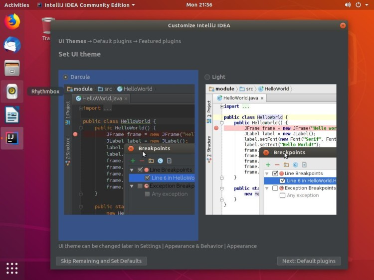 ubuntu-intellij-idea-customize