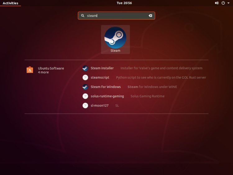 ubuntu start steam