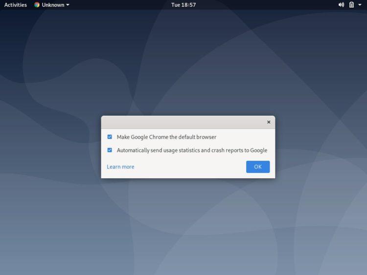debian google chome default browser