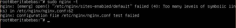 output konfigurasi nginx error