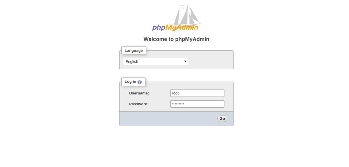 Login as root user to phpMyAdmin