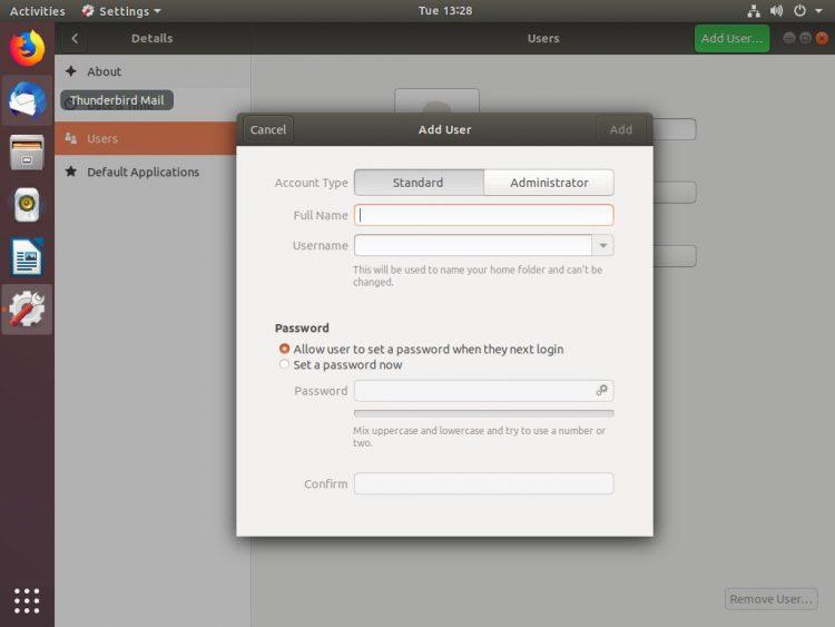 ubuntu add user