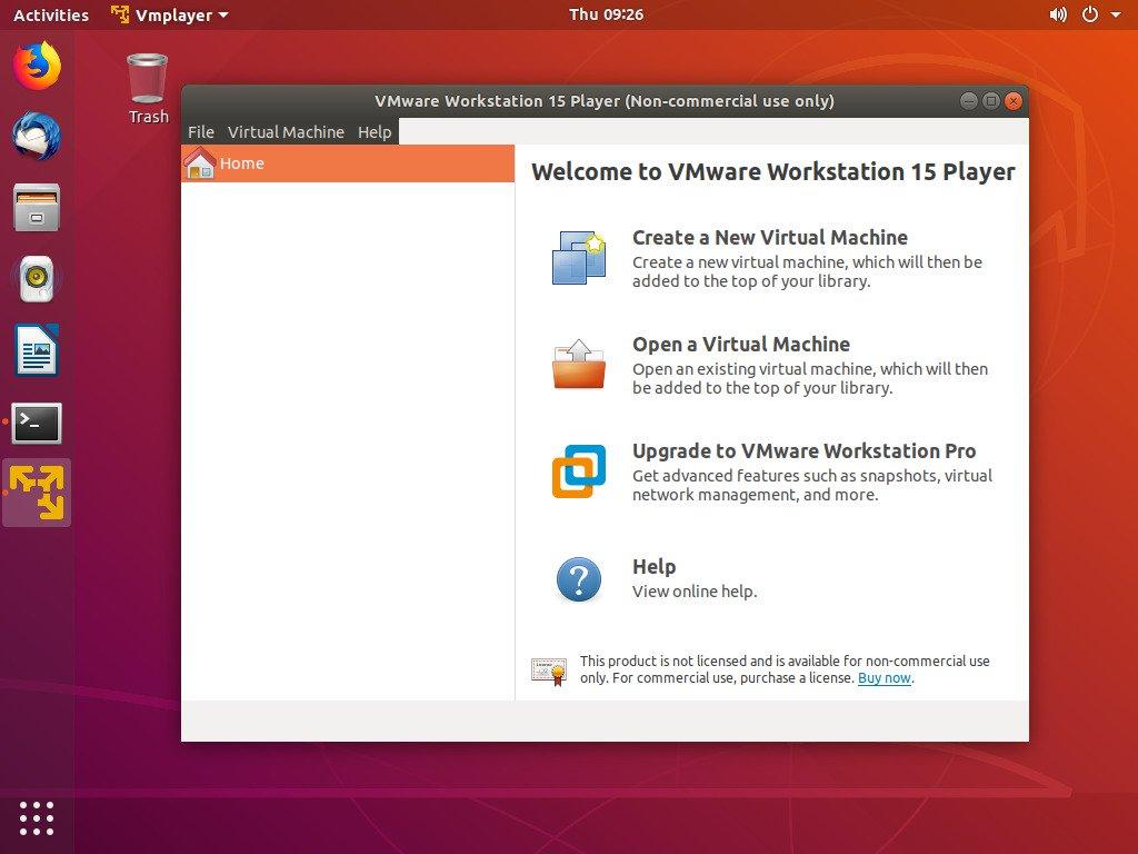 ubuntu vmware workstation player