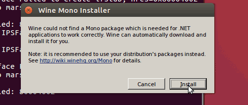 Setup Wine mono di Ubuntu 18.04