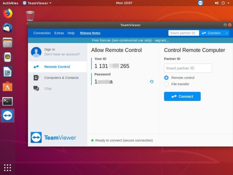 ubuntu teamviewer remote control