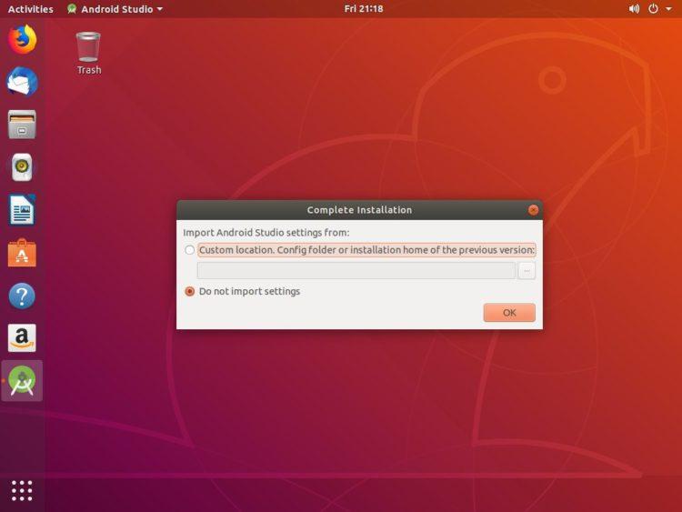 Install Android Studio di Ubuntu 18.04