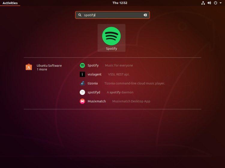 start spotify ubuntu