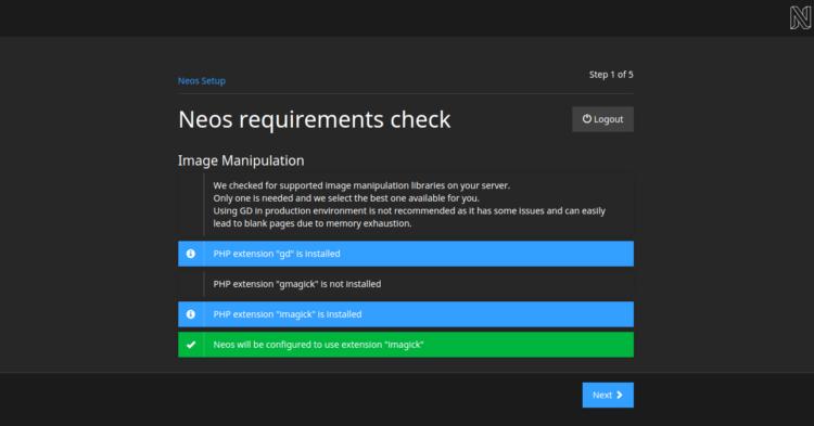NEOS Requirement Checks