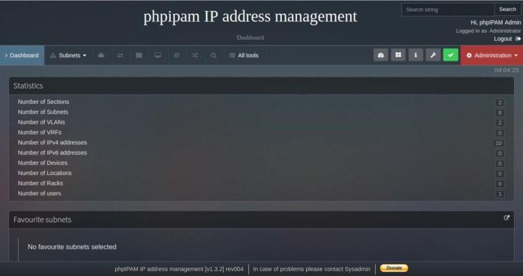 Page 7 - Manajemen Alamat IP phpipam
