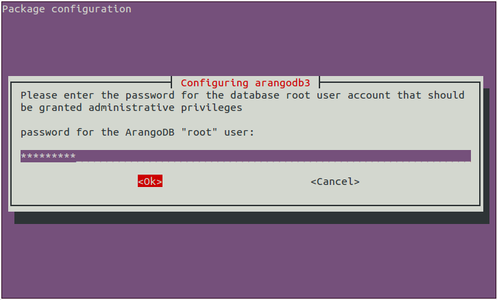 page 1 - Set database root password