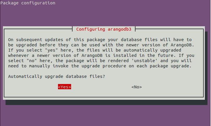page 3 - Configure arangodb