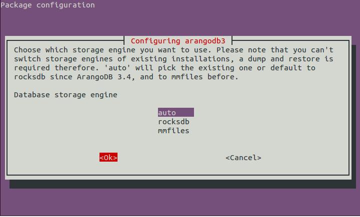page 4 - Select storage engine