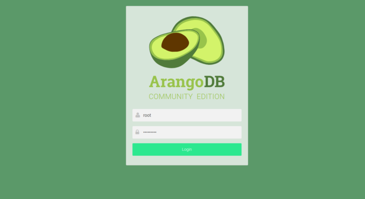 page 6 - ArangoDB web interface
