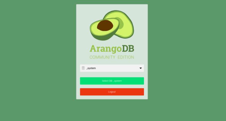 page 7 - ArangoDB web interface Login