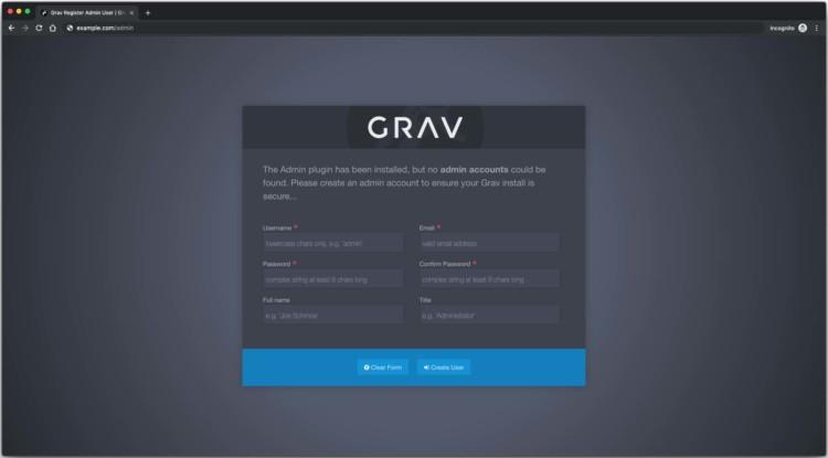 GRAV CMS Installer