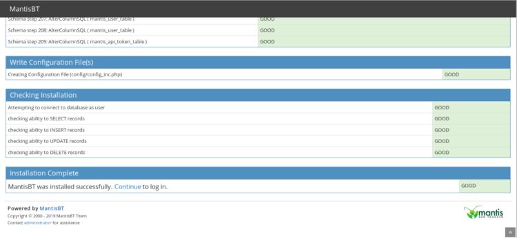 3 Database settings
