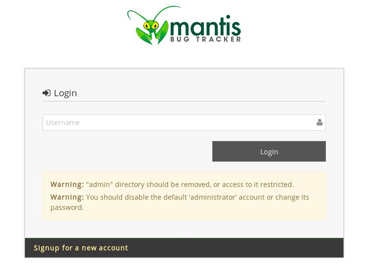 Mantis login