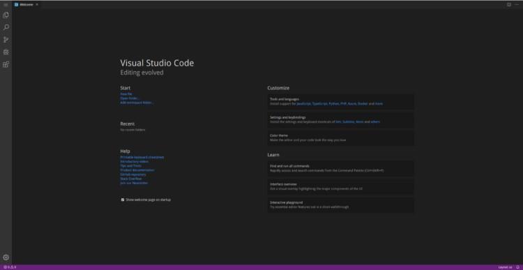 Antarmuka Visual Studio Code - Server
