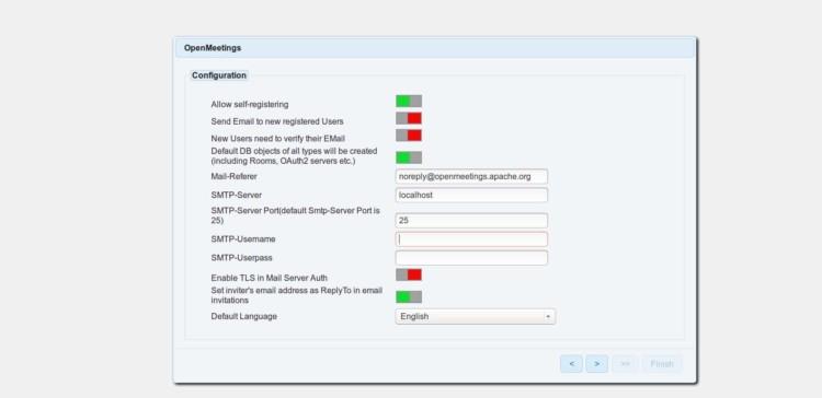 page 4 - SMTP settings